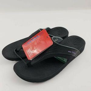 New Balance Revitalize Sandals Black Womens US 10